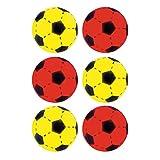 Softball 6er Set Farben Gelb & Rot ca. 20 cm Durchmesser