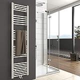 Badheizkörper Handtuchtrockner Heizkörper 1600x400mm 739 Watt Leistung Weiß Bad Mittelanschluss Handtuchwärmer Heizung