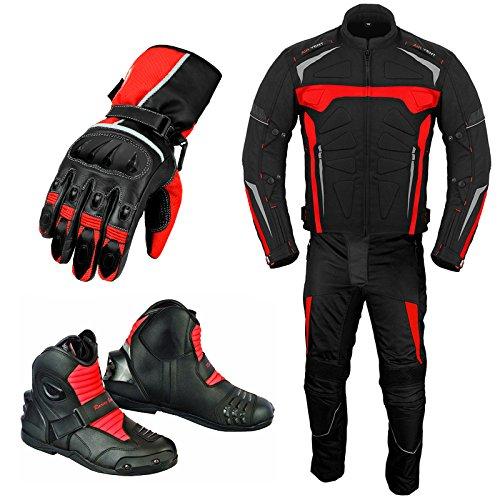 Traje de moto para hombre - Guantes de moto - Botas de...