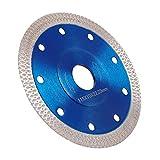 Disco Diamantato 115mm Sottile professionale Taglio a secco con taglio a umido per gres porcellanato, graniti, ceramica, quarzite, marmo (Blu)