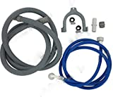 bartyspares® Universal Fill Water Pipe and Drain Hose Extension Kit for Bosch Washing machines and Dishwashers 2.5m