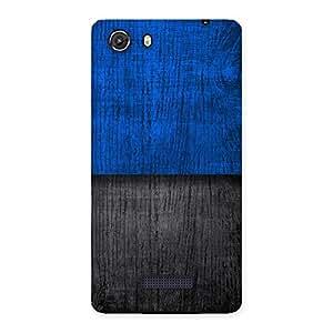 Premium Blue Black Print Back Case Cover for Micromax Unite 3