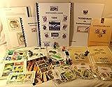 Briefmarkenalbum für Kinder,Tiere, mit handgefertigtem Album, +Pinzette, +Lupe und +200 Briefmarken...Handarbeit