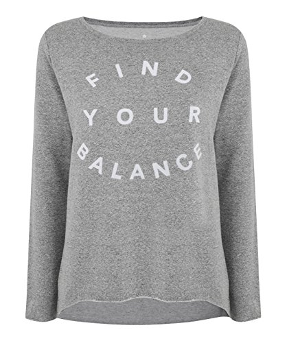 Manuka Life da donna Nirvana slogan felpa tops, donna, Nirvana Slogan, Light Grey Melange/White Print, XL
