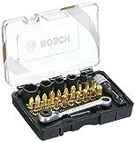 Bosch 2607017459 Zubehörset für Akkuschrauber, schwarz/gold, One size