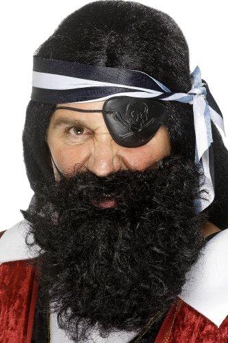 Piraten Bart Vollbart schwarz