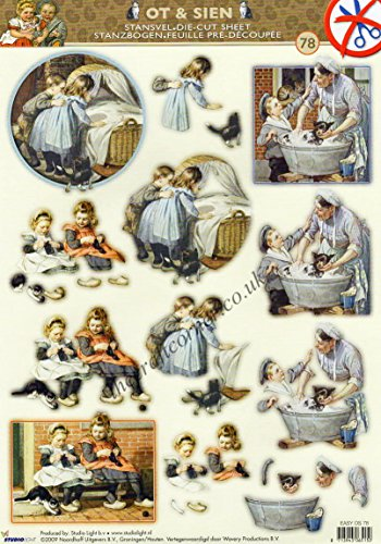 victorian-children-knitting-with-cats-die-cut-decoupage-sheet-no-cutting