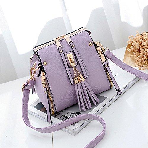 Preisvergleich Produktbild Single Schultertasche Mode und Freizeit Handtasche, Violett, 18 X 19 X 13 cm