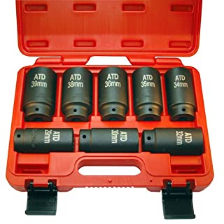 ATD Tools (8628 12-Point 8-Piece Axle/Spindle Nut Socket Set