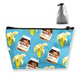 Banana and Nutella Pencil Case Pen Zipper Bag Coin Organizer Makeup Costmetic Storage Bag Pouch