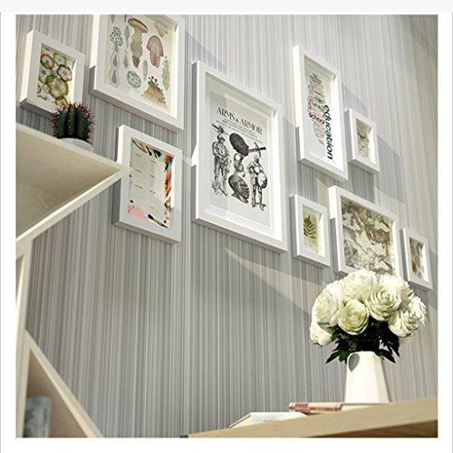 Foto parete in legno massiccio soggiorno camera da letto creative cornice fotografica wallpaper ristorante moderno simple photo wall grande cornice europea (color : 1#)