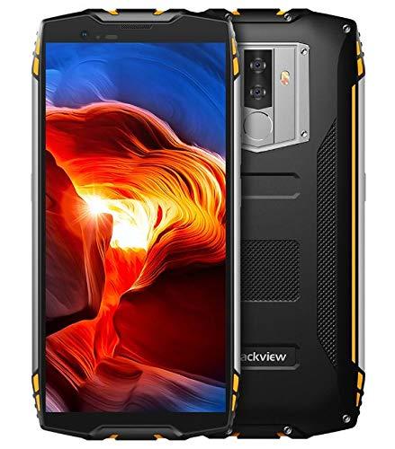 Blackview BV6800 Pro - 5,7 Zoll FHD + (18:9 Verhältnis) Militär Standard-Smartphone, 6580mAh BAK-Batterie (30 Tage Standby, schnelle Ladung), IP68 Wasserdicht/Stoßfest,Achtkern 4GB + 64GB- Gelb