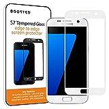Samsung Galaxy S7 Vollbildschirm Schutz aus gehärtetem Panzerglas, 9H Härte und Anti-Fingerabdruck Oleophobic Beschichtung - Weiss