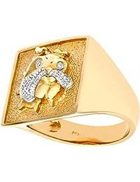 Revoni - 9 Karat Gelbgold Diamantring für Herren