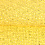 Stoffe Werning Baumwolljersey Mini Blumen gelb Kinderstoffe