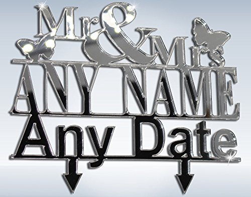 Personalised Wedding Cake Topper for Mr & Mrs Cake Toppers Custom For Wedding Party With Surname Cake topper Idea - L1014