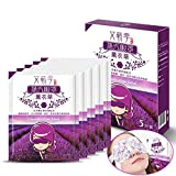 Steam Hot Augenmaske lindert Ermüdung Heiße Eye Mask-Rosen, Kamille, Lavendel, Wermut Natürlicher Pflanzenextrakt Augenmaske für Schlaf (Lavendel)