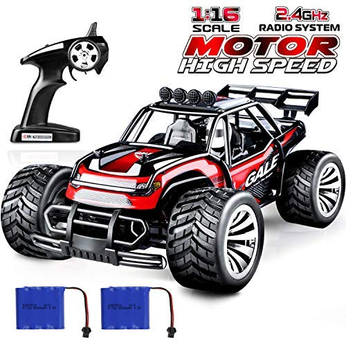 joylink Electric RC Car 1:16 RC Car Racing Truck Offroad 2WD 2.4 GHz Control Remoto de Alta Velocidad RTR RC Buggy RC Monster Truck con batería Recargable (1512)