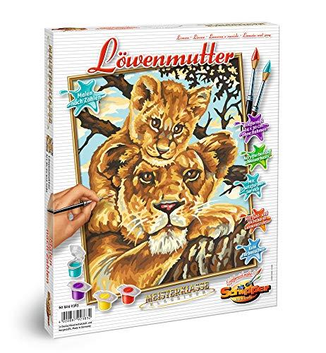 09240383-Malen nach Zahlen-Löwenmutter, 24x30cm ()