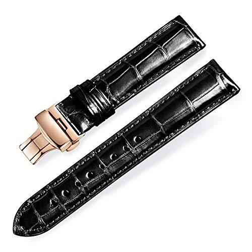 Cinturino per orologio Jiexima in pelle di coccodrillo con cinturino in...