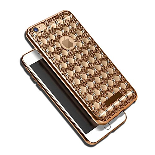 Custodia per iphone 6 / 6s -4.7 Pollici iphone 6s plus - 5.5 Pollici In Kirin Soft Gel Flessibile Estremamente Sottili TPU Bling Cristallo Strass Prova (per iphone 6 plus/6s plus, Rose oro) Oro
