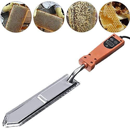 g Entdeckelungsmesser, Imker Schaber Heißes Messer, Edelstahl-Digitalanzeige Honigschaber Imkerei-Werkzeug, für Imker - EU-Stecker ()