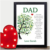 Keepsake Personalised Poem Dad Birthday Gifts Daddy Father Grandad Presents Love - PERSONALISED ANY RECIPIENT for Birthdays, Christmas - Black or White Framed A5, A4, A3 Prints or 18mm Wooden Blocks