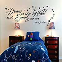 Harry Potter In Dreams we enter Dumbledore Wall Sticker Vinyl Quote for Bedroom Art
