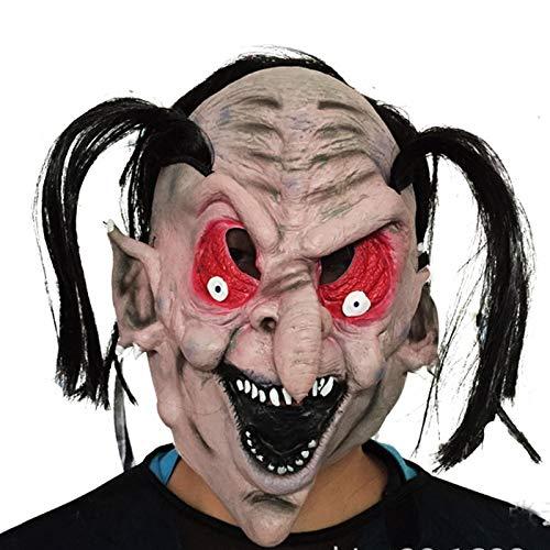 Beängstigend Hexe Maske - Volle Gesicht Adult Latex Maske Mit
