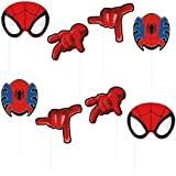 Party Propz Spiderman Theme Photobooth Props (8 Pieces)