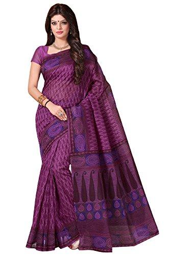 Roopkala Silks & Sarees Cotton Saree (Bp-141_Purple)