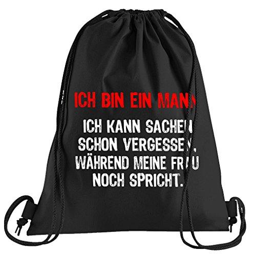 T-Shirt People Ich Bin Ein Mann. Sportbeutel