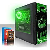 Fierce EXILE RGB PC Gamer - Rápido 4 x 3.8GHz Quad Core AMD A-Series 7600 - 1TB Disco duro - 8GB de 1600MHz DDR3 RAM/Memoria - AMD Radeon R7 Integrated Graphics - HDMI, USB3, Wi-Fi - Entrada perfecta en juegos de PC - Windows 10 Instalado - Garantía De 3 Años - (407264)