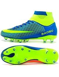 BAOBU AG Spike Botas de fútbol Profesional Zapatos de Fútbol para Hombre
