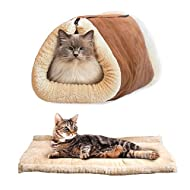 J-power Self Chauffage Ped Tunnel Bed & Tapis 2en 1, pour chats, chiens, Kitty et chiot