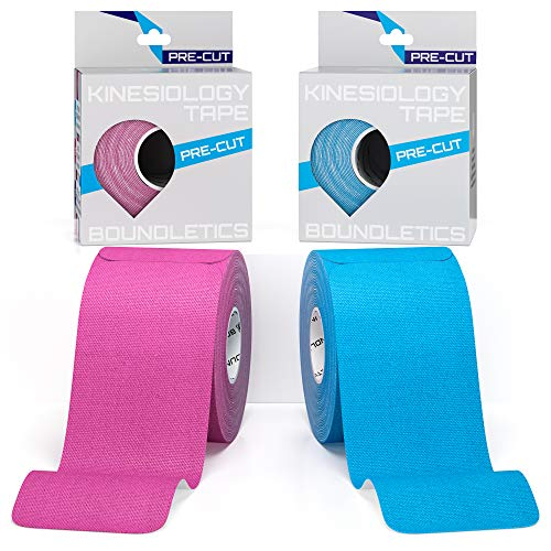 Boundletics Kinesiologie Tape vorgeschnitten 2er Pack - Physiotape + Anleitung