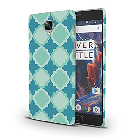 Koveru Back Cover Case for OnePlus Three - Snowflakes Pattern