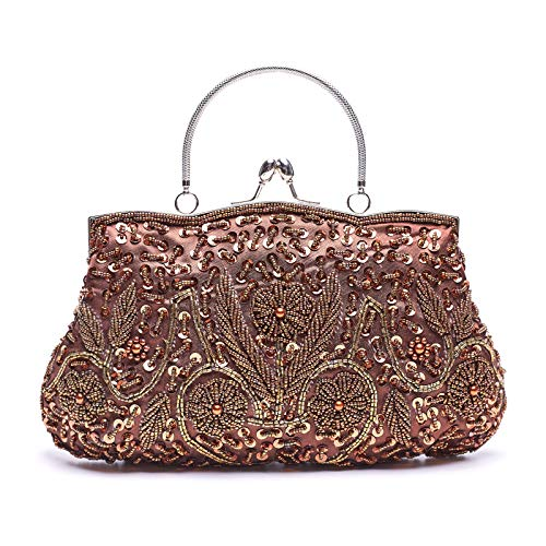 Perlen Abendtasche-clutch (VENI MASEE DamenHandgemachtePerleHandtasche,AbendtascheDamenClutchFürParty)