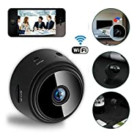 Womdee Mini WiFi Camera, Magnetic Wireless Spy Hidden HD 1080P Camera, Indoor Home Security Camera with Stand, Smart Motion Detection, Instant Push Notifications Night Vision Camera for iPhone Android