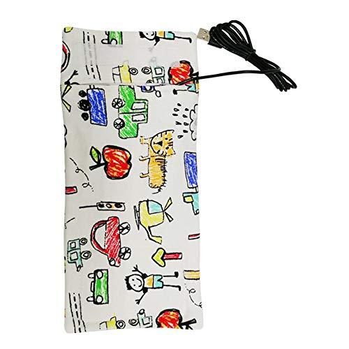 Ljourney Tragbare USB Isolierhülle zum Erwärmen der Milch für das Fläschchen wärmen für Reisen, Lange Warm haltezeiten und einfaches Waschen