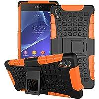 BCIT Sony Xperia Z2 Cover - Alta calidad Escabroso Durable Estuche protector TPU/PC funda carcasa case para Sony Xperia Z2 - Naranja