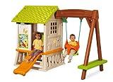 Smoby 310463 - Winnie the Pooh Waldhaus mit Schaukel und Rutsche