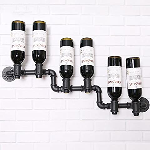Porte-vins Fontaine industrielle vintage Porte-vin rouge Mur suspendu Vieux porte-vins Présentoir Stand Inverted Wine Bottle
