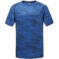 VJGOAL Hombre Verano Moda Casual Color sólido O-Cuello Top Fitness Deporte Secado rápido Camiseta de los Hombres