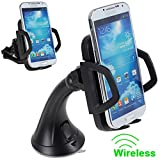Generic Qi Wireless Car Charger Dock Auto Mount Bracket with Wide Charging Area for Nexus 5/ Nexus 4/Nokia Lumia / HTC / Samsung