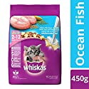 Whiskas Kitten Dry Cat Food, Ocean Fish Flavour – 450 g Pack