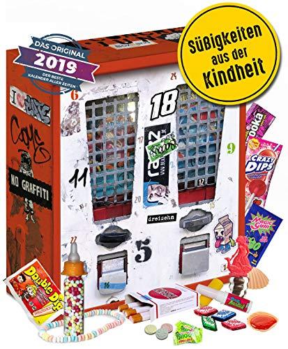 Nostalgie Adventskalender I Kalender mit früheren Süßigkeiten I nostalgische Vorweihnachtszeit für 80er 90er 2000er Erwachsene