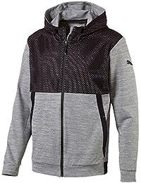 Puma Men's Tech Full-Zip Fleece Hoodie Grey