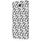 Casography Pattern Designer Printed Ultra Slim Light Weight Back Case Cover For Samsung Galaxy J7 Max (Pink) - Black & White - B1-D60