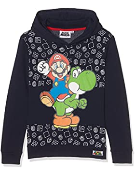 Super Mario Jungen Sweatjacke mit Kapuze - marine blau